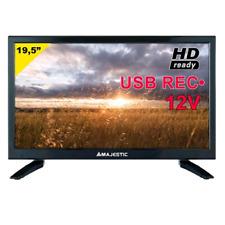 TV LED MAJESTIC 12V 19,5 POLLICI T2/SAT/USB/  NO DVD - CAMPER e ROULOTTE