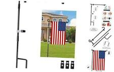 "Garden Flag Pole Stand Durable Flagpole18 35.5"" Yard Banner Pole Stand for"