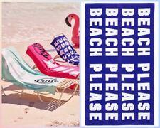 Victorias Secret Pink BEACH PLEASE Graphic LIMITED ED Boyfriend BEACH TOWEL NWT