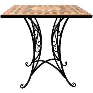 Mosaik Garten Tisch 70x70cm Mosaiktisch Gartentisch Bistrotisch Beistelltisch