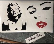 "3 LARGE Marilyn Monroe Vinyl Decals 8""x7.5"" Each Face"