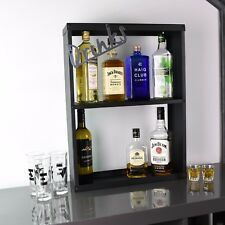 Home Bar Drinks Alcohol Shelving Unit Gin Vodka Whisky Scotch Rum Port Tequila