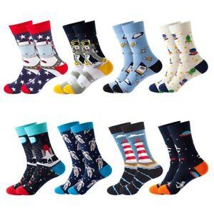 Men Women Starry Sky Universe Fun Art Cotton Socks Size7-12  Funky Sox Novelty