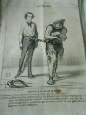HD 2903 Daumier 1851 - Uune visit to the bagne Naples Gladstone Jailer