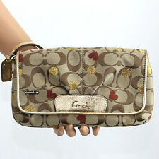NWT Coach Secret Admirer Hearts  Large Flap Wristlet Clutch F46934 New RARE
