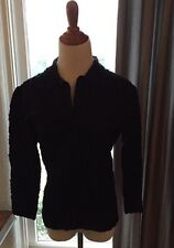 womens black ETCETERA Jacket Cotton Size 10 Button Sweater Top Cropped