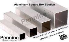 ALUMINIUM SQUARE BOX SECTION 11 Sizes 10 Lengths