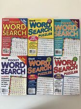 Lot of 6 Dell Word Search Seek Find Pocket Penny Press Puzzles $22.74 retail