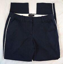 J. Crew Cafe Capri Navy Blue Womens Khaki Pants Size 2 (K5#3204)