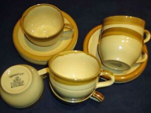 """Set of 6 T G Green """"Granville"""" Coffee/Tea Cups n Saucers, superb condition"""