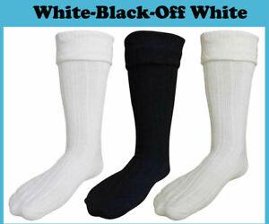 SCOTTISH WOOL BLEND KILT HOSE SOCKS FOR ADULTS SIZES S,M,L,XL,XXL