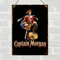 CAPTAIN MORGAN Spiced Rum Metal Wall Plaque Sign Vintage Retro Bar Pub Man Cave