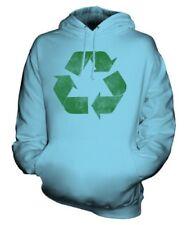 Riciclare Effetto Rovinato Felpa Unisex Smanettone Maglia Ambiente Eco Warrior