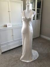 Monique Lhuillier Wedding Dress Simple Sleek Beach Silk Vamp 4/6