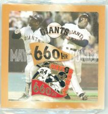 SF Giants Barry Bonds Willie Mays 660 Home Runs Pin 2004 SGA New In Package sfgb