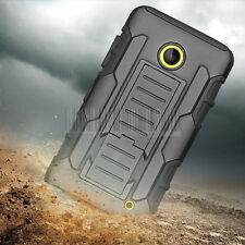 For Nokia Lumia 635 630 Rugged Hybrid Armor Impact Hard Cover Stand Case Holster