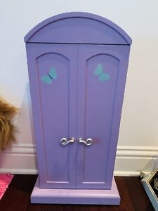 American Girl Doll Armoire Closet Cabinet Room Decor For Dolls Clothing Hanger
