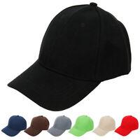 Plain Baseball Cap Ball Dad Hat Adjustable Plain Solid Washed Cotton Women Men