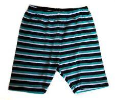 GYMBOREE Little Girls 6 Summer Bike Shorts Elastic Waist Green Black Striped