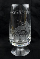 Thomas Webb Crystal Ltd Edition Commemorative Investiture Vase 1969 * BOXED *
