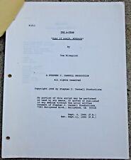 "A-Team Script ""Play It Again Murdock"" by Tom Blomquist 9/11/1986"
