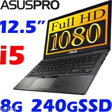 "ASUS-PRO BU201LA Core i5 DurableCarbon 12.5"" FHD 8G 240G-SSD Win10 Pro Ultrabook"