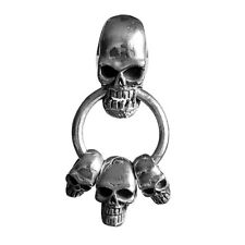 Four Skull 925 Solid Sterling Silver Pendant