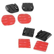 4x 3M Adhesive Pads Flat Curved Helmet Mounts for GoPro Camera HD Hero 1 2 3 4