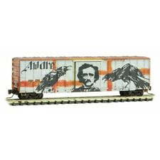Z Scale - MICRO-TRAINS LINE 510 44 017 RAILBOX 50' Rib Side Box Car w/ Graffiti