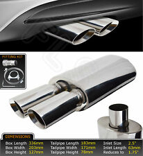 UNIVERSAL PERFORMANCE FREE FLOW STAINLESS EXHAUST BACKBOX YFX-0688  FRD1