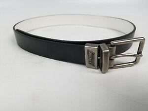 Genuine Dickies Men's Boys Casual Reversible Belt Large Black & White