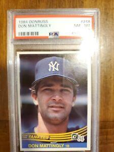 8 Graded Don Mattingly Baseball Cards For Sale Ebay
