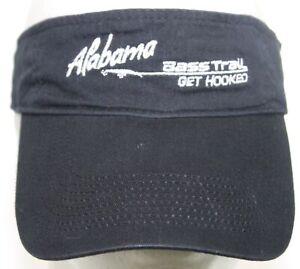 Port & Company Alabama Bass Trail Get Hooked Fishing Hat Cap White Black Visor