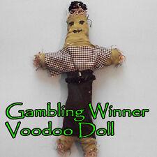 Gambling Winner Voodoo Doll Cards Poker Casino Slot Machines Vegas Money Race