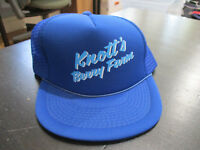 NEW VINTAGE Knott's Berry Farm Snap Back Hat Cap Trucker Mesh Blue 1980s 80s