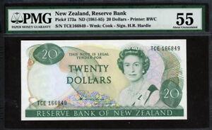 New Zealand 1981-1985, 20 Dollars, P173a, PMG 55 AUNC