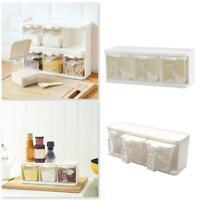 3 Grids Spice Condiment Storage GewürzLebensmittelboxen Home Kitchen Convenient