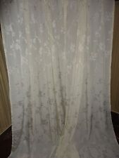 JCP PENNEY FLORAL VICTORIAN IVORY FLORAL DAMASK (PAIR) PANELS 50 X 83