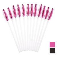 50pcs Disposable Makeup Black Mini Brush Mascara Wands Applicator for Eyelash