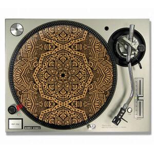 Mandala Vinyl CORK SLIPMATS / Turntable SLIP MATS