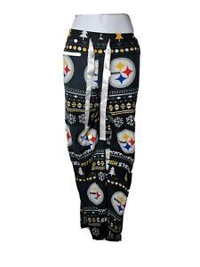NFL Team Apparel Women's Pittsburgh Steelers Comfy Lounge Pants sweatpants PJs