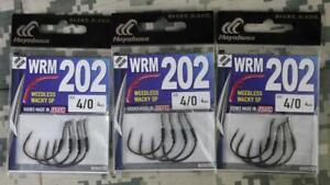 Hayabusa  EC99471 WRM202 Weedless Wacky SP Sz 4/0 THREE 4-Packs BRAND NEW