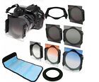 6 filter kit Gradual ND2 ND4 ND8 Orange Blue/ 52mm ring adapter f Cokin p series