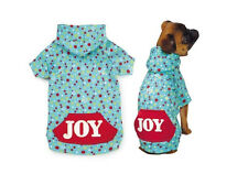 Zack and Zoey Winter Lights JOY DOG Christmas Holiday Hoodie SMALL