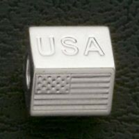 European Bead Flag Stainless Steel Loose Beads Fit Charm Bracelets Free Shipping