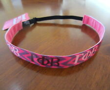 new GAMMA PHI BETA CHEVRON HEADBAND adjustable fitness sports band Greek letters