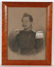 """Portrait of a German military officer"", drawing, 1830/40s"