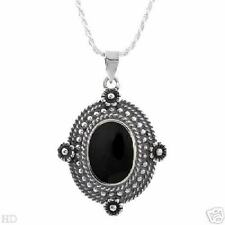 Necklace With Genuine Onyx Well Made
