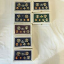 Australian Proof Set Coins 1975 - 1982 (no 1980) with certificates and cases.