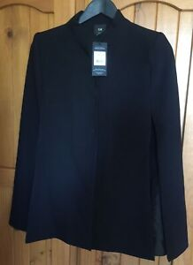 Cue Black Ladies Cape Jacket /coat Size  6 Bnwt Rrp $395